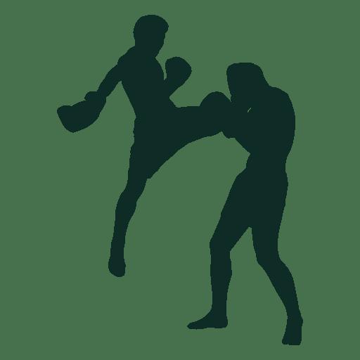 512x512 Kickboxing Flying Knee Fighting