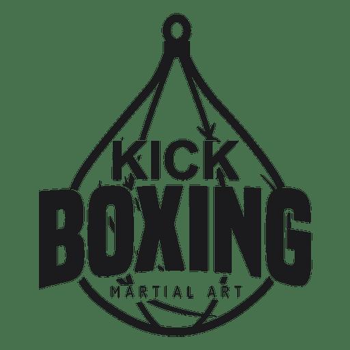 512x512 Boxing Kickboxing Fight Logo Badge Label