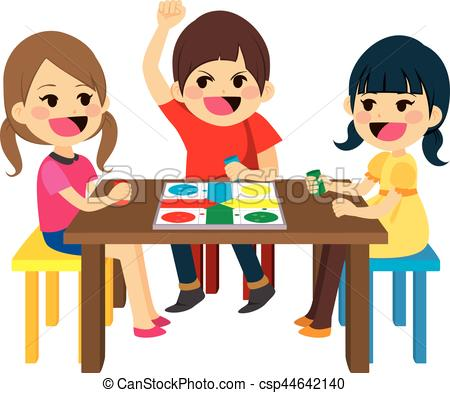 450x393 Kids Playing Board Game. Three Happy Friends Kids Sitting Playing