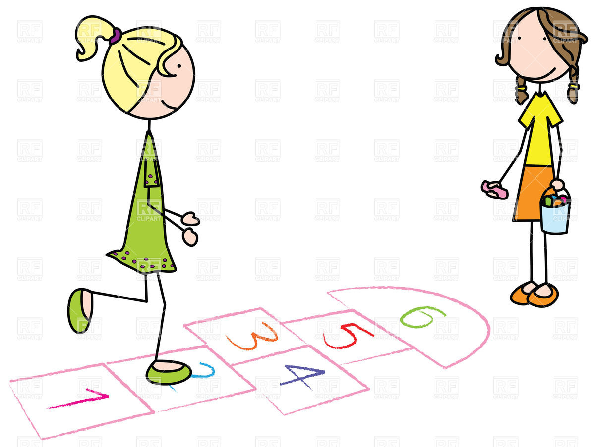 1200x903 Kids Playing Hopscotch Vector Image Vector Artwork Of Sport And