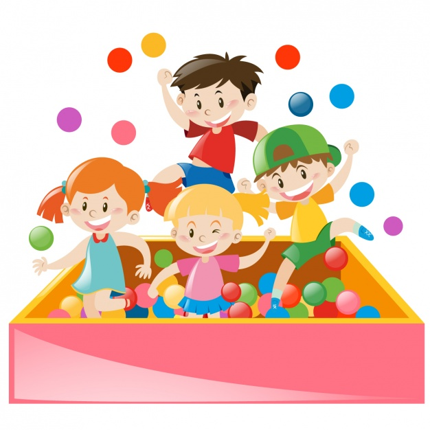 626x626 Kids Playing Wth Balls Vector Free Download