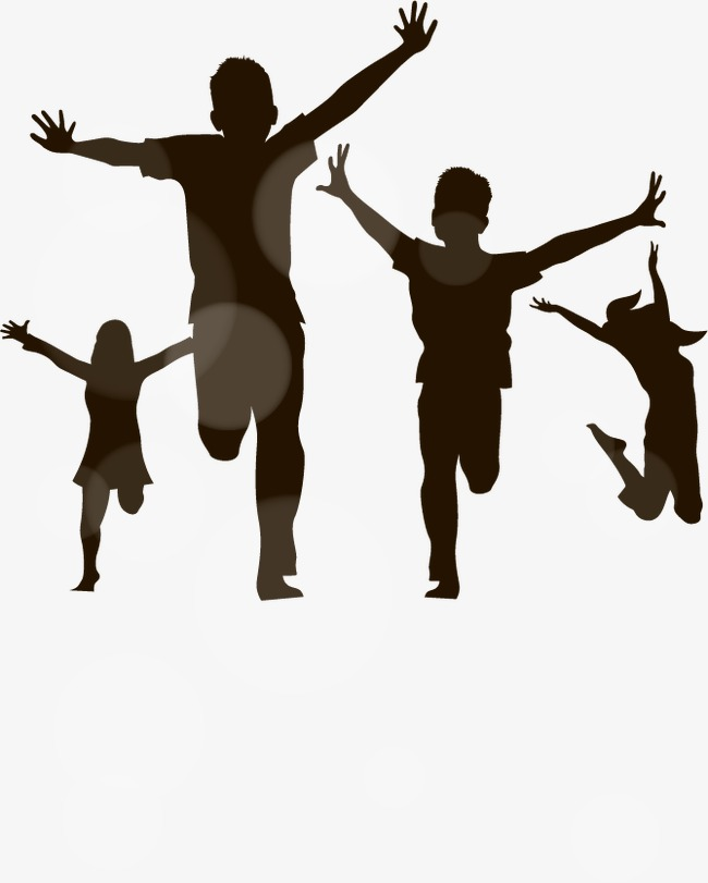 650x811 Children Playing Vector Silhouettes, Children Play, Silhouette
