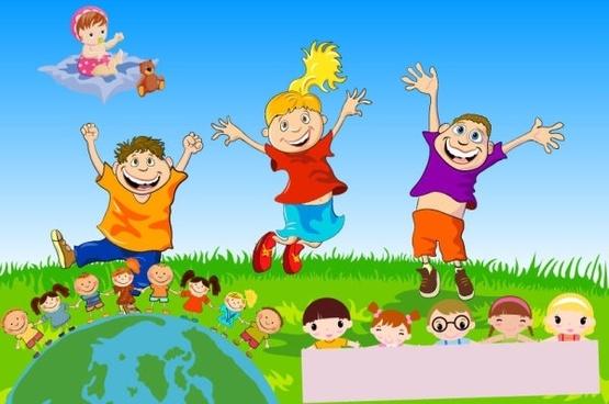 555x368 Vector Children Free Vector Download (1,122 Free Vector) For