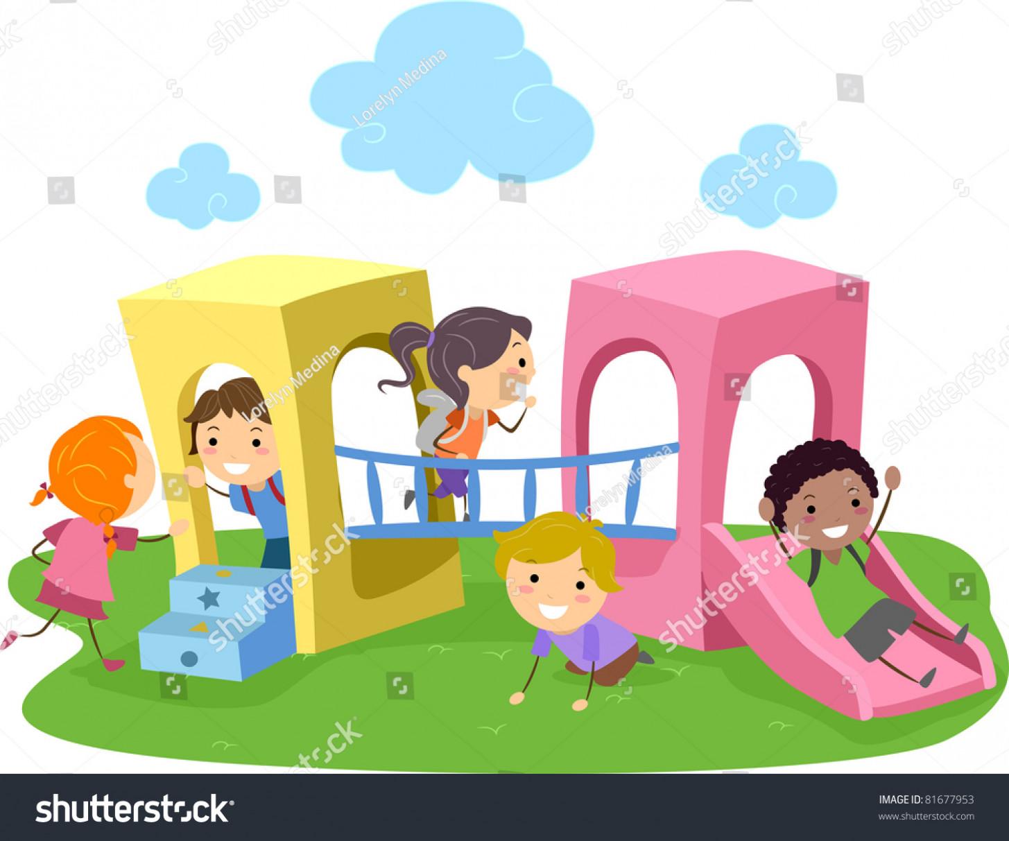 1455x1213 Illustration Kids Playing Playground Stock Vector 18 Cotton