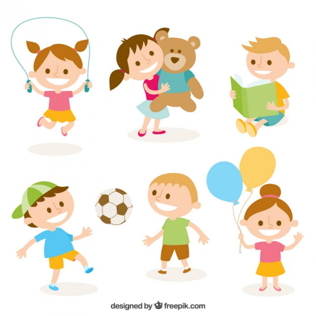 626x626 Cute Illustration Of Kids Playing Vector Free Download