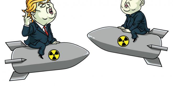 660x330 Donald Trump Vs Kim Jong Un On Nuclear Weapon Vector