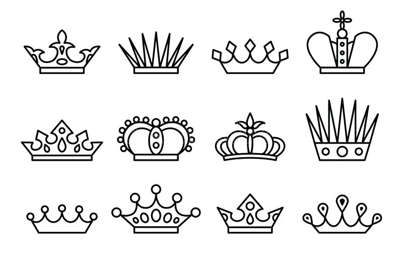King And Queen Crown Vector At Getdrawingscom Free For Personal