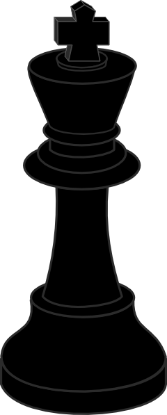 240x597 Chess Piece Black King Clip Art Free Vector 4vector