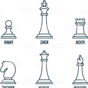 300x300 Chess Pieces Vector Thin Line Icons King Queen Bishop Rook Gm