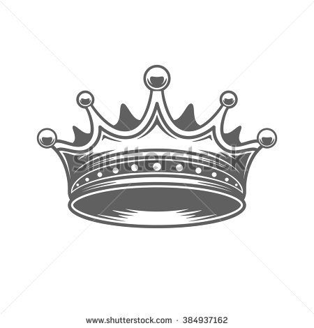 450x470 King Crown Logo Vector Illustration. Royal Crown Silhouette