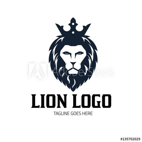 500x500 Lion Logo Design Template, Lion King Logo, Lion Head Logo, Vector