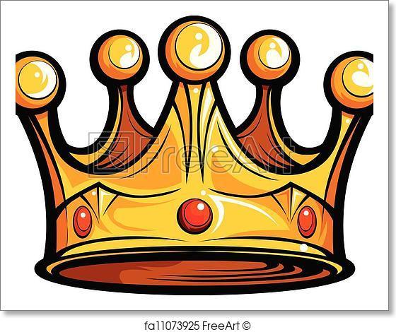 560x470 Free Art Print Of Royalty Or Kings Crown Cartoon Vector Image