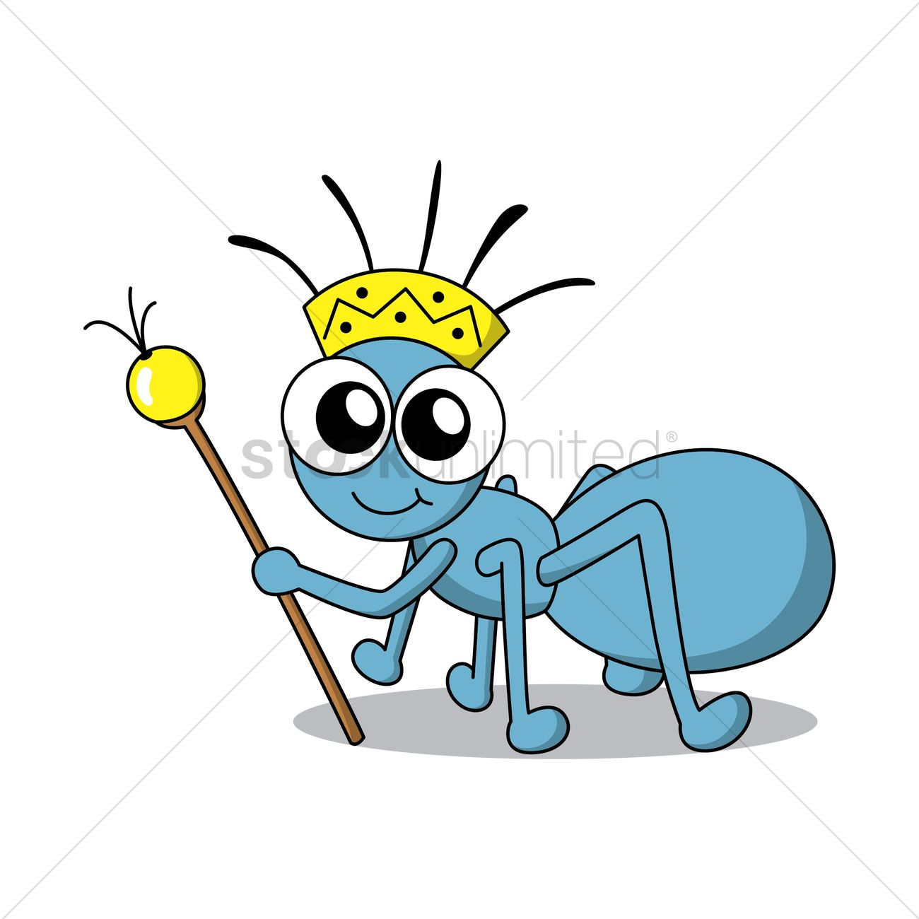 1300x1300 Ant King Vector Image