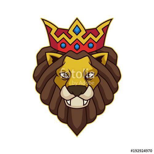 500x500 Lion King Vector Illustration Mascot Logo Stock Image And Royalty