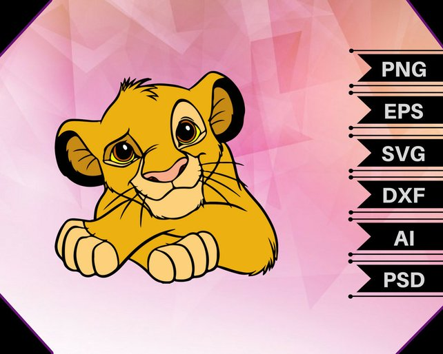 642x514 Lion King Vectorsimba Vectorsimba Svgsimba Clipartsimba Etsy