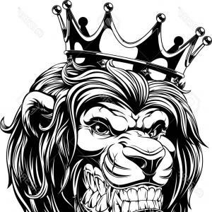 300x300 Photostock Vector Vector Illustration The Lion King The Head Of A