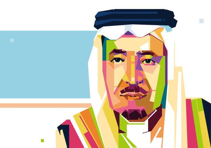 700x490 Saudi Arabia King Vector