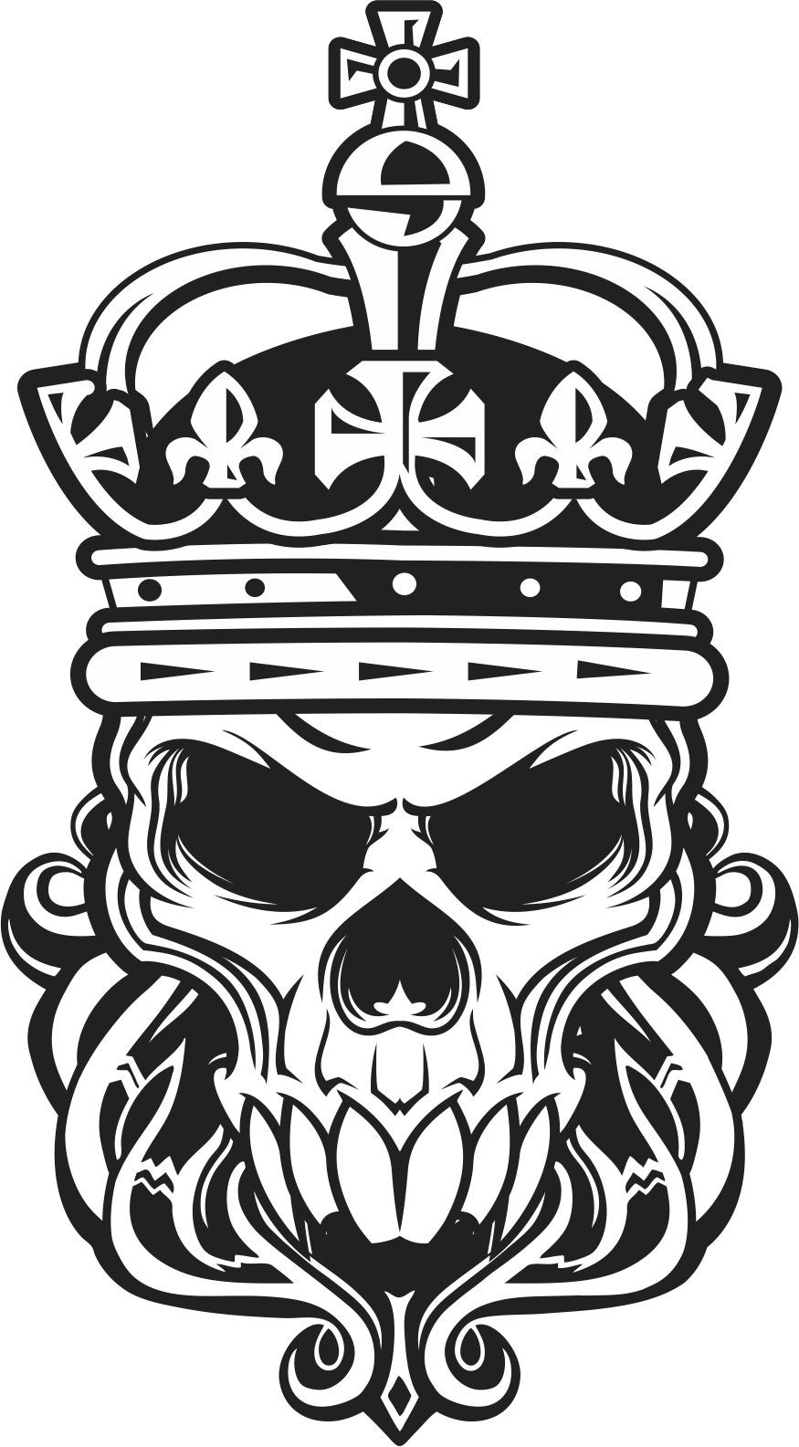 875x1585 Skull King Vector Art Free Vector Download