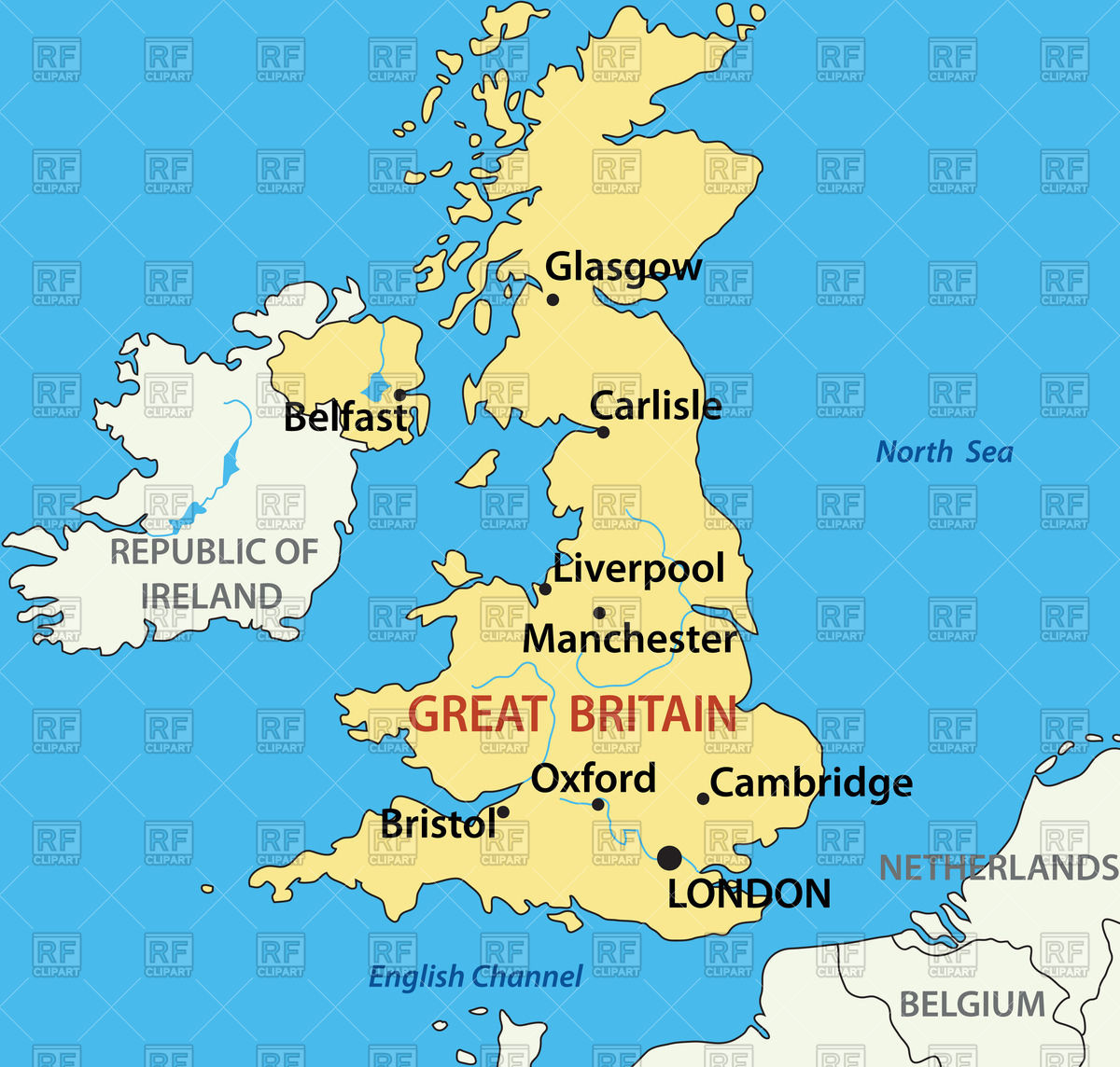 1200x1144 Map Of The United Kingdom Vector Image Vector Artwork Of Objects