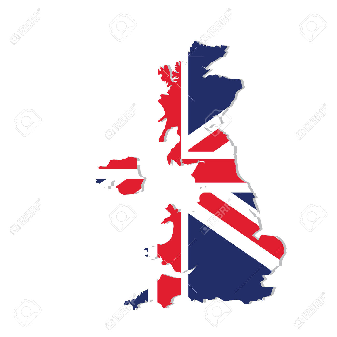 1300x1300 Map United Kingdom Vector Free Stock