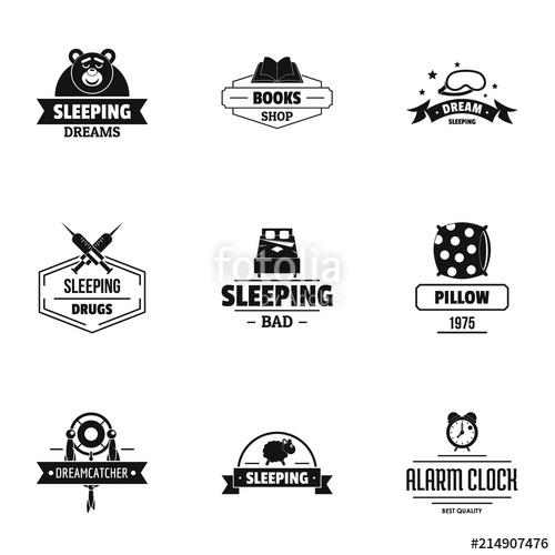 500x500 Night Kingdom Logo Set. Simple Set Of 9 Night Kingdom Vector Logo