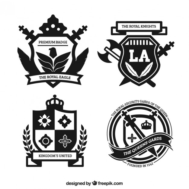 626x626 Royal Badges In Ornamental Style Vector Free Download