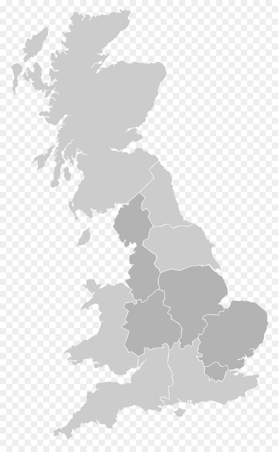 900x1460 United Kingdom Vector Map Royalty Free