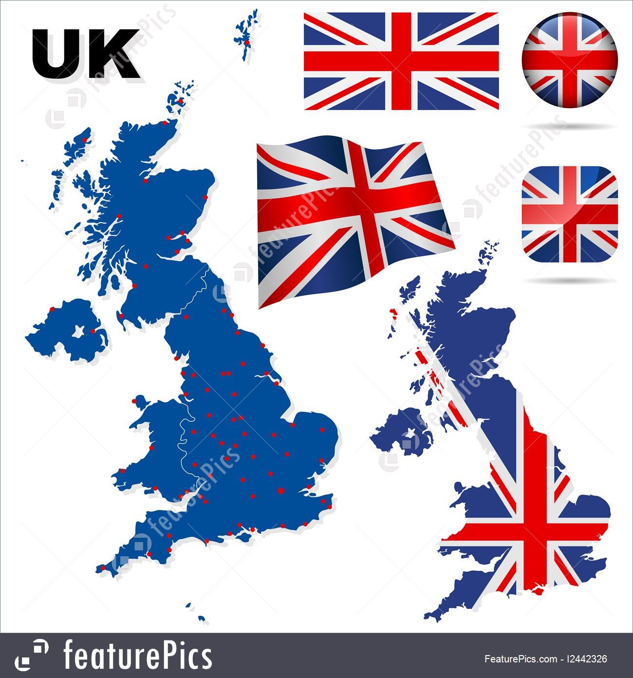 1300x1392 United Kingdom Vector Set.