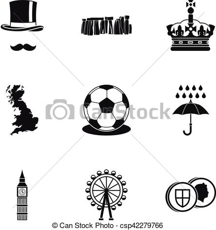 443x470 United Kingdom Icons Set, Simple Style. United Kingdom Icons Set