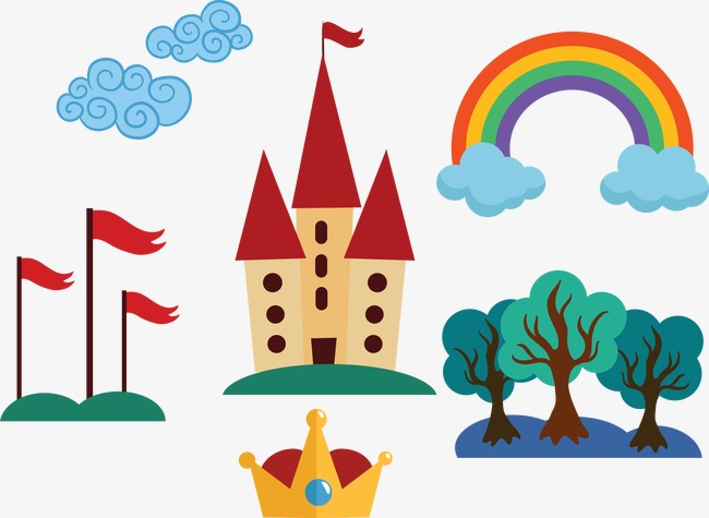 650x475 Vector Material Kingdom, Kingdom, Rainbow, Crown Png And Vector