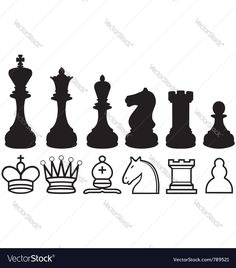236x268 Knight Chess Set New Set Chess Piece Vector Icons In Black