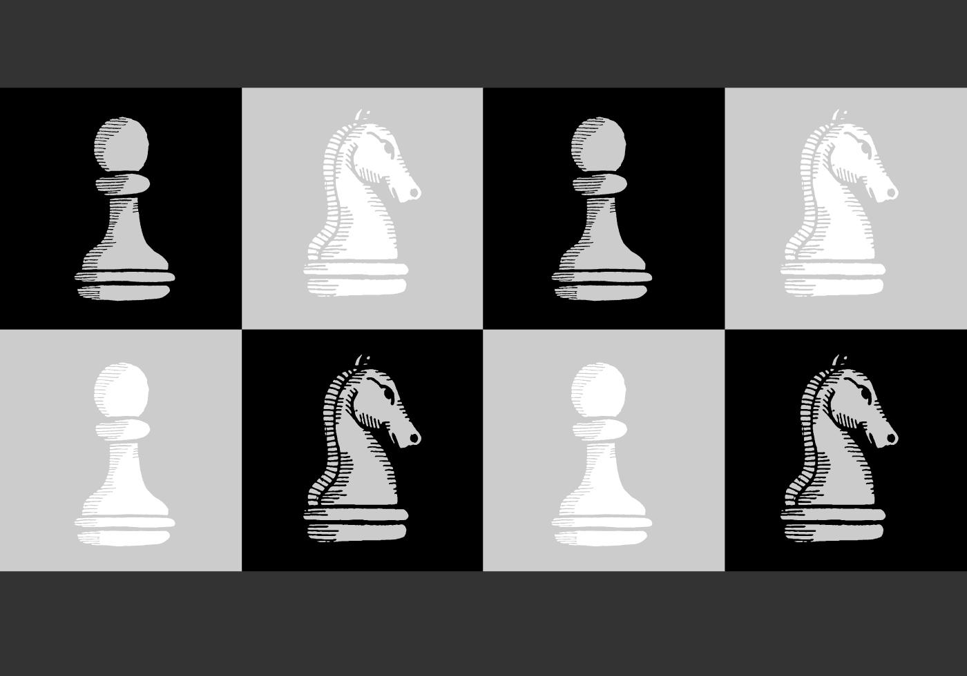 1400x980 Chess Knight Free Vector Art