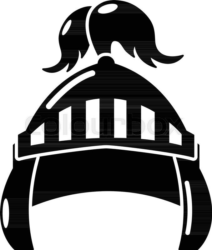 678x800 Knight Helmet Security Icon. Simple Illustration Of Knight Helmet