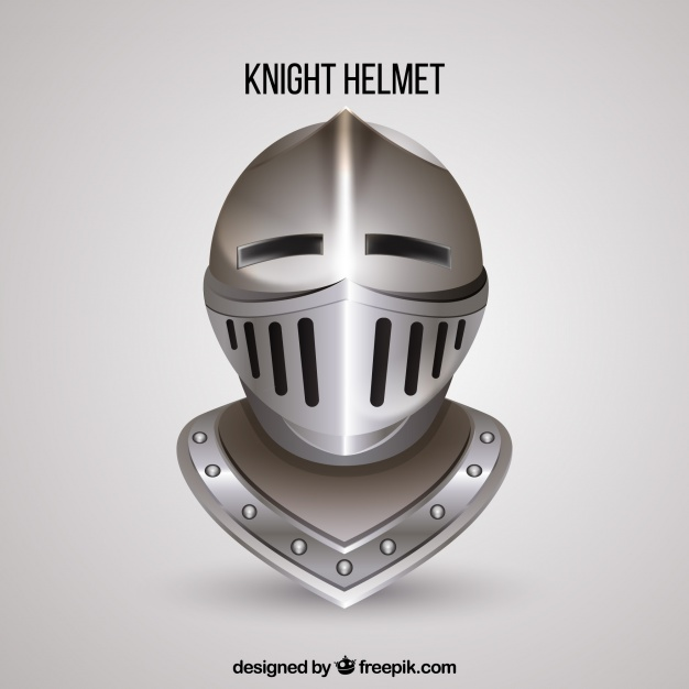 626x626 Knight Helmet With Realistic Style Vector Free Download