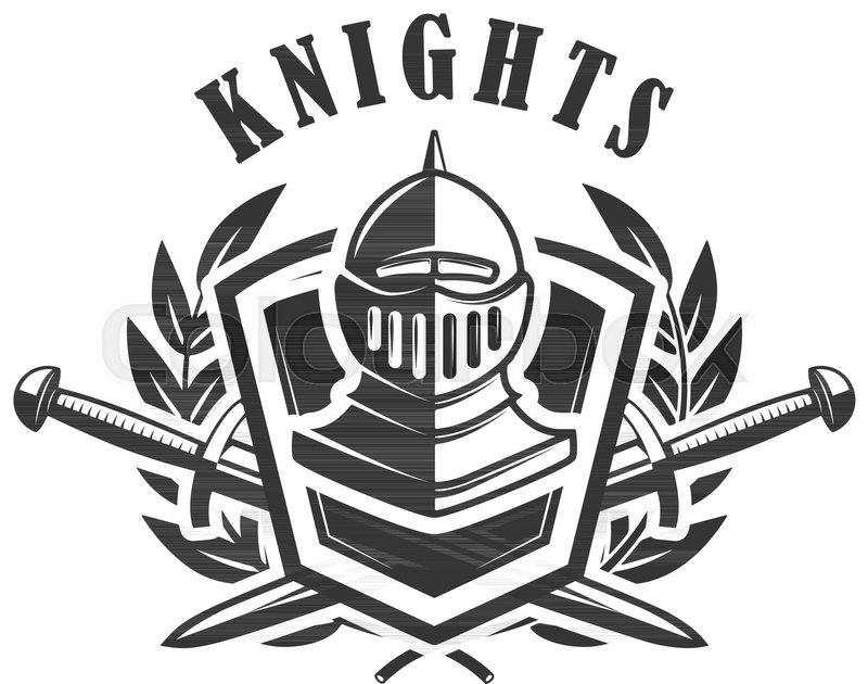 800x630 Knights. Emblem Template With Medieval Knight Helmet. Design