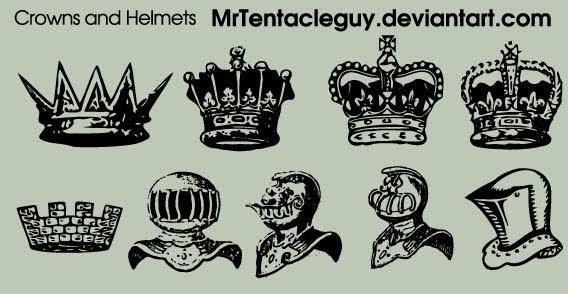 568x294 Medieval Knight Helmet Amp Crowns Vector Free 123freevectors