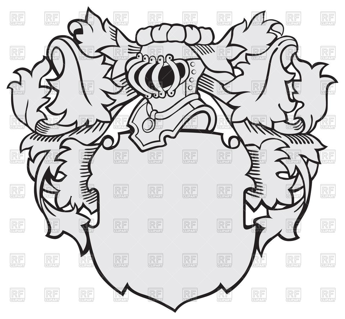 1200x1108 Medieval Heraldry With Knights Helmet