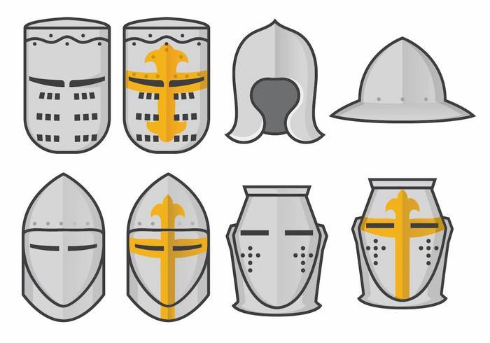700x490 Templar Knight Helmet Vector Set