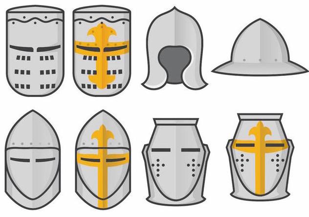 632x443 Templar Knight Helmet Vector Set Free Vector Download 376057