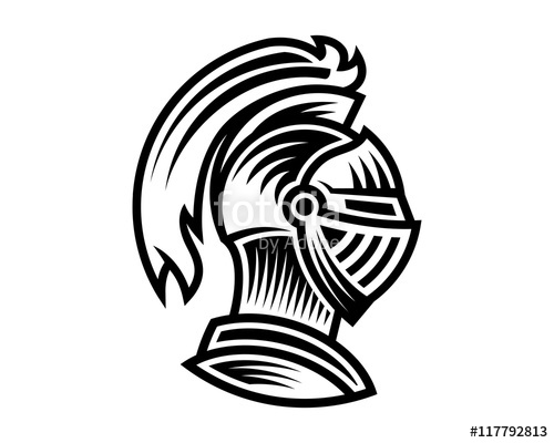 500x400 Vector Of Knight Helmet, Could Be Use As Logo, Icon, Etc Stock