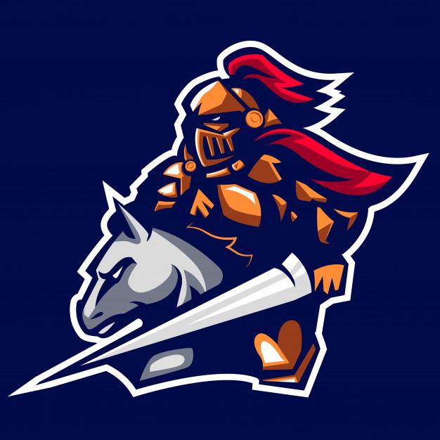 626x626 Paladin Knight Of The Ancient Emperor Mascot Logo Vector Premium