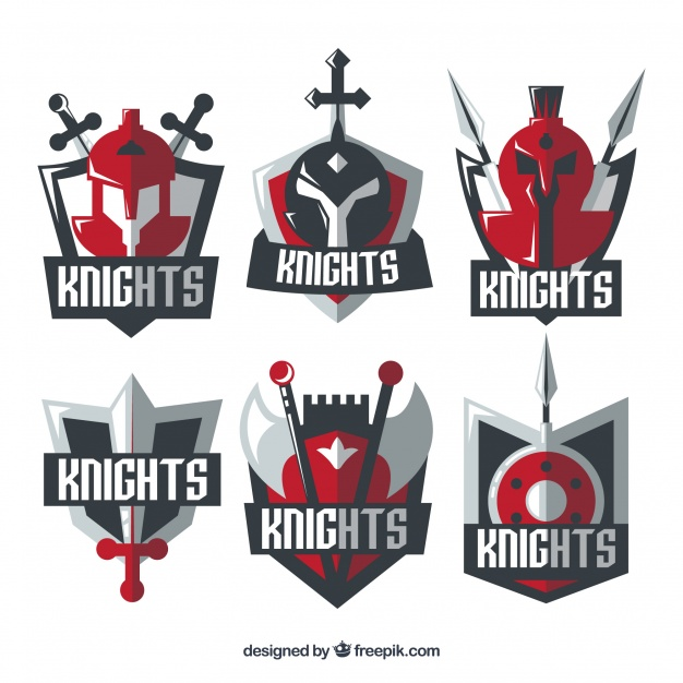 626x626 Red Knight Emblem Templates Vector Free Download