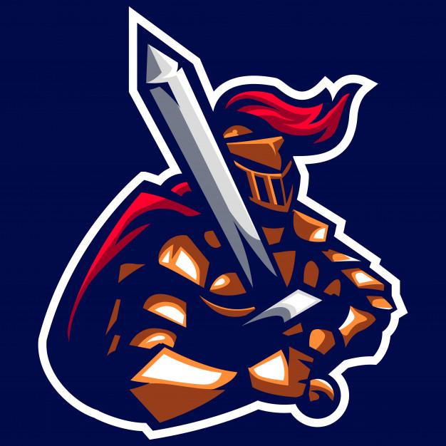 626x626 Swordman Knight Of The Ancient Emperor Mascot Logo Vector