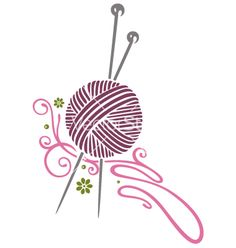 Knitting Needles Vector