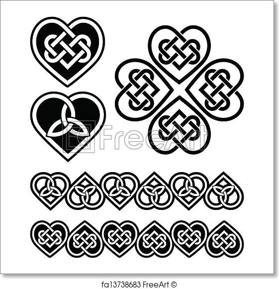 561x581 Free Art Print Of Celtic Heart Knot