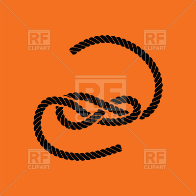 400x400 Knotted Rope On Orange Background