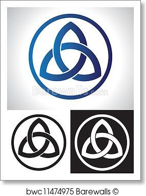 285x382 Art Print Of Celtic Trinity Knot Vector Barewalls Posters