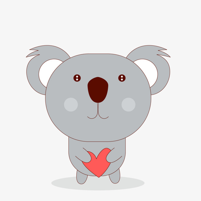 650x651 Cartoon Cute Koala Vector Material, Cartoon Cute Koala, Rat