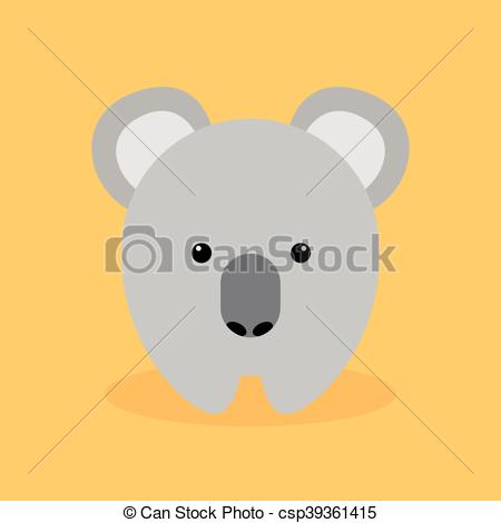 450x470 Cute Cartoon Koala. Cute Cartoon Koala On A Orange Background.