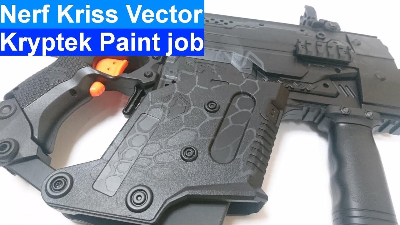 1280x720 Nerf Kriss Vector Paint Job Tutorial Worker Parts Kryptek